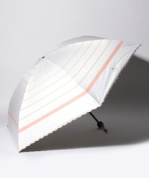 "LANVIN en Bleu(umbrella)/LANVIN en Bleu 晴雨兼用折りたたみ傘 ""ボーダー リボン""/502931732"