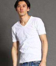HIDEAWAYS NICOLE/リンクスボ-ダ-VネックTシャツ/503008843