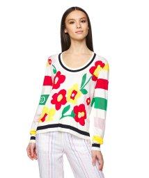 BENETTON (women)/クルーネックジャガードフラワーニット・セーター/503019863
