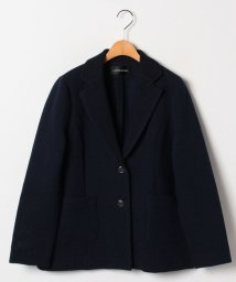 LAPINE ROUGE/【大きいサイズ】インレイ編み テーラードジャケット/503023551