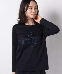 LA JOCONDE/【洗える】スーピマスムース エンブロイダリーTシャツ/503027533