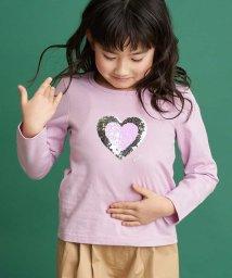 a.v.v(KID'S)/[140-150]トゥインクルスパンコール長袖Tシャツ/502981370
