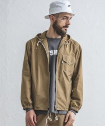OFF SHORE/WINDOW HOODED JACKET/502938604