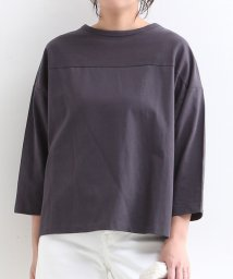 MELROSE Claire/フットボールTシャツディティールシンプル7分袖カットソー/503029782