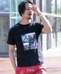 Nylaus/SKKONE エンボスロゴ サガラ刺繍 フォトプリント 半袖 Tシャツ/503048272