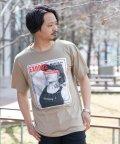Nylaus/SKKONE エンボスロゴ ガールプリント ビッグシルエット 半袖 Tシャツ/503048273
