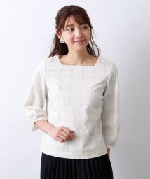 AMACA/【Precious Collection】LACE EMBROIDERYブラウス/502941070