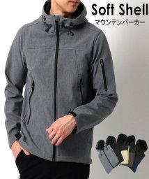 MARUKAWA/撥水 ストレッチ ソフトシェル マウンテンパーカー 春 アウター/502976450