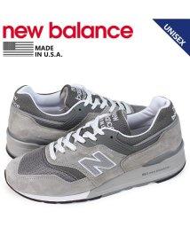 newbalance/ニューバランス new balance 997 スニーカー メンズ Dワイズ MADE IN USA グレー M997GY [予約 1/28 追加入荷予定]/503003492