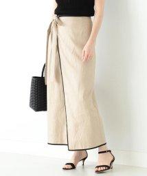 Demi-Luxe BEAMS/Demi-Luxe BEAMS / パイピング ラップスカート/503011758