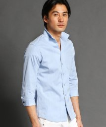 NICOLE CLUB FOR MEN/イタリアンカラー七分袖シャツ/503019110
