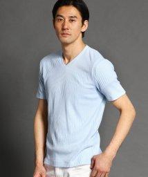NICOLE CLUB FOR MEN/バイアス切り替えテレコTシャツ/503019113