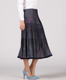 Viaggio Blu/【大きいサイズ】マルチストライプニットスカート/503049551