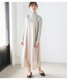 Avan Lily/サテンパイピングロングキャミ/503049701