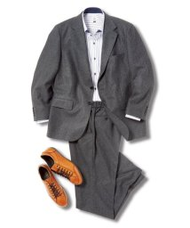 GRAND-BACK/【大きいサイズ】グランバック/GRAND-BACK トラベスト/TRABEST 2釦2ピーススーツ 黒杢ニット/503050336