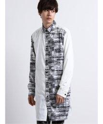 semanticdesign/シェラック/SHELLAC 切替プリント長袖ロングシャツ/503050859