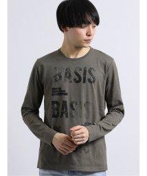 semanticdesign/厚盛り転写レター クルーネック長袖Tシャツ/503050999