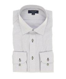 TAKA-Q/形態安定抗菌防臭スリムフィット ワイドカラー長袖ビジネスドレスシャツ/ワイシャツ/503051157