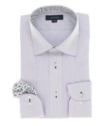 TAKA-Q/形態安定レギュラーフィット ワイドカラーパイピング長袖ビジネスドレスシャツ/ワイシャツ/503051178