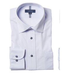 TAKA-Q/ノーアイロンストレッチ レギュラーフィットワイドカラー長袖ニットビジネスドレスシャツ/ワイシャツ/503051185