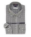 TAKA-Q/綿100% 形態安定 スリムフィット ボタンダウン長袖ビジネスドレスシャツ/ワイシャツ/503051295