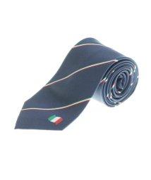 m.f.editorial/シルク イタリア国旗パネルネクタイ8.0cm幅/503051453