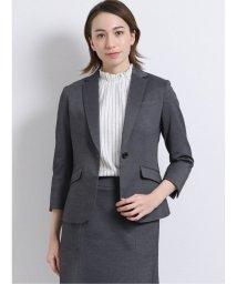 m.f.editorial/ストレッチウォッシャブル ポンチ2ピーススーツ(1釦ジャケット+フレアスカート)グレー/503051550