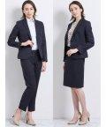 m.f.editorial/高機能ポリエステル 1釦ジャケット+スカート+パンツ 紺カルゼ/503051559