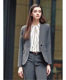 m.f.editorial/トラベスト/TRABEST セットアップVカラー1釦ジャケット 白黒ピンヘッド/503051600