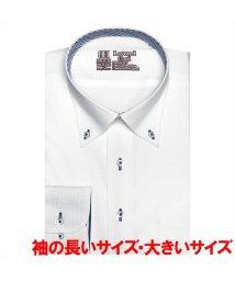 BRICKHOUSE/ワイシャツ 長袖 形態安定 レイヤードクール ボタンダウン 袖の長い・大きい メンズ/503052411