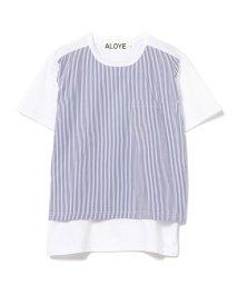 Ray BEAMS/ALOYE / ストライプ Tシャツ/502884338