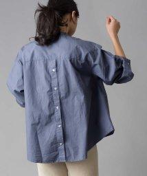 OMNES Another Edition/【OMNES Another Edition】コットン ボリュームスリーブバンドカラーシャツ/503007005