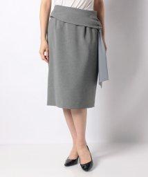 Leilian/リボン風ディテールタイトスカート/503014017