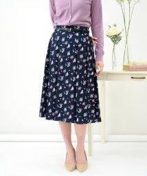 Eimy Peal by POWDER SUGAR/花柄プリント細ベルト付きスカート/503014408