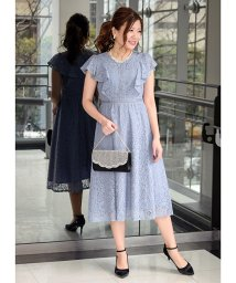 Eimy Peal by POWDER SUGAR/コードレースフリル半袖ドレス/503014425