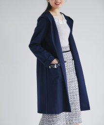 tocco closet/ポケットビジュー付きフード&袖口レース装飾コーディガン/503039011