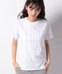 LA JOCONDE/【洗える】スーピマスムース ラメストライプTシャツ/503040819