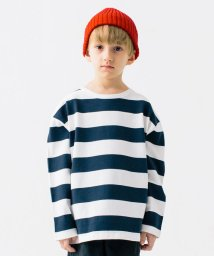 こどもビームス/SMOOTHY / ボーダー ビッグ Tシャツ 20(100~160cm)/503052756