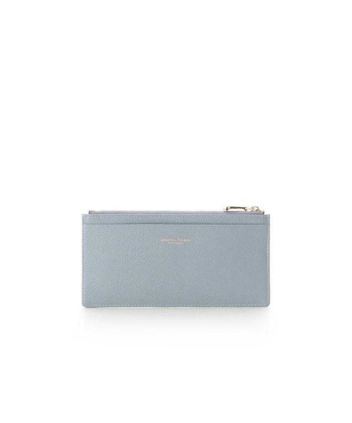 サマンサタバサプチチョイス シンプルレザー 薄型カードケース レディース ブルー FREE 【Samantha Thavasa Petit Choice】