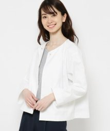smart pink/【手洗い可】オックスノーカラージャケット/503053918