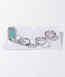 WEGO/4Pストーンシルバーリング/502830730
