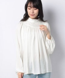PAL OUTLET/【CAPRICIEUX LE'MAGE】レースブロッキングブラウス/503031494