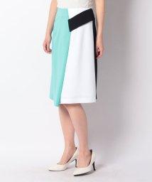 pierre cardin/【洗える】レーヨンポリポンチ カラーブロックスカート/503040830