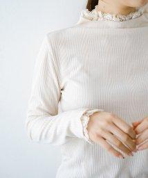 haco!/1枚でも重ねても便利!テレコ素材できれいに着られる衿レース付きカットソートップスby style zampa/503041578