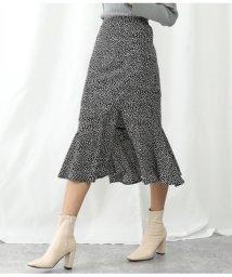 Alluge/リーフプリントスカート/503054658