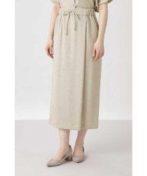 HUMAN WOMAN/《arrive paris》フェイクリネンラップ風スカート/503054819