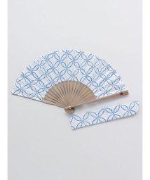 KAYA/【カヤ】紳士用 藍七宝しぼり扇子 袋付き 7XCP0103/503056172