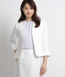 SunaUna/【洗える】バスケット調カラーレスジャケット/503056527