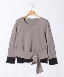 LAPINE ROUGE/【大きいサイズ】【セットアップ対応】16Gミラノリブ 配色使いセーター /502490551