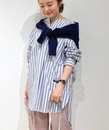 le.coeur blanc/タイプライターキーネックロングシャツ/502826805